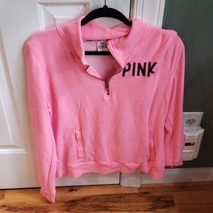 Victoria's secret pink quarter zip pullover